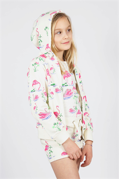 Zip Sweater Flamingo